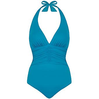 Seaspray 33-2857 Women's Just Colour Jade Blue Shaping Swimsuit