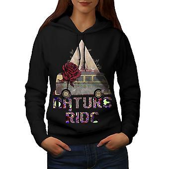 Nature Ride Women BlackHoodie   Wellcoda