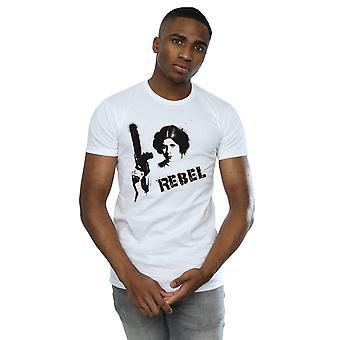 Star princesa Leia rebelde t-shirt Wars masculino