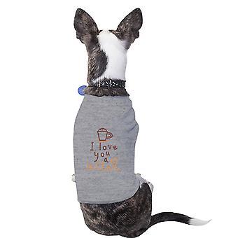 الحب القطن آتية قميص الحيوانات الأليفة الكلاب الصغيرة الرمادية الملابس
