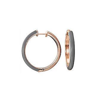 Pendientes criollas de acero inoxidable ESPRIT mujer ESCO11656E000 rosado lujo gris