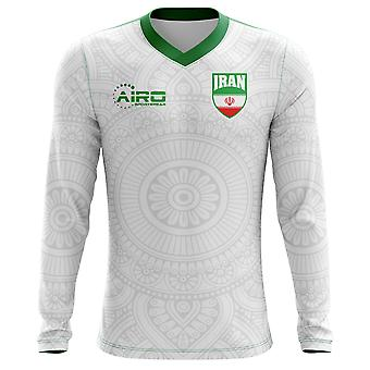 2020-2021 Iran Long Sleeve Home Concept Football Shirt (Kids)