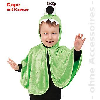 Monster kostym kids Monster Cape grön ena ögat Cape barn kostym