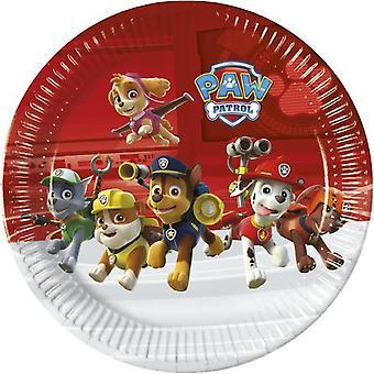 Πόδι περιπολία πλάκα κόμμα του 23 cm 8 κομμάτια Παιδικά γενέθλια θέμα πάρτι