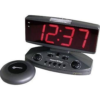 Geemarc JWNSGTI +-ANTIG Quartz alarmklok zwart