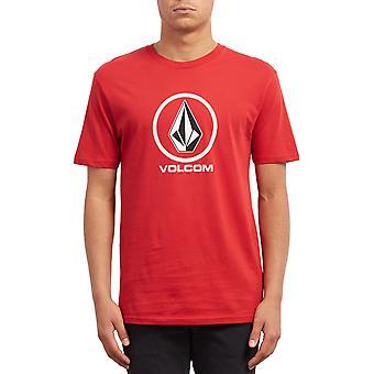 Volcom Crisp Stone Short Sleeve T-Shirt in Motore Rosso
