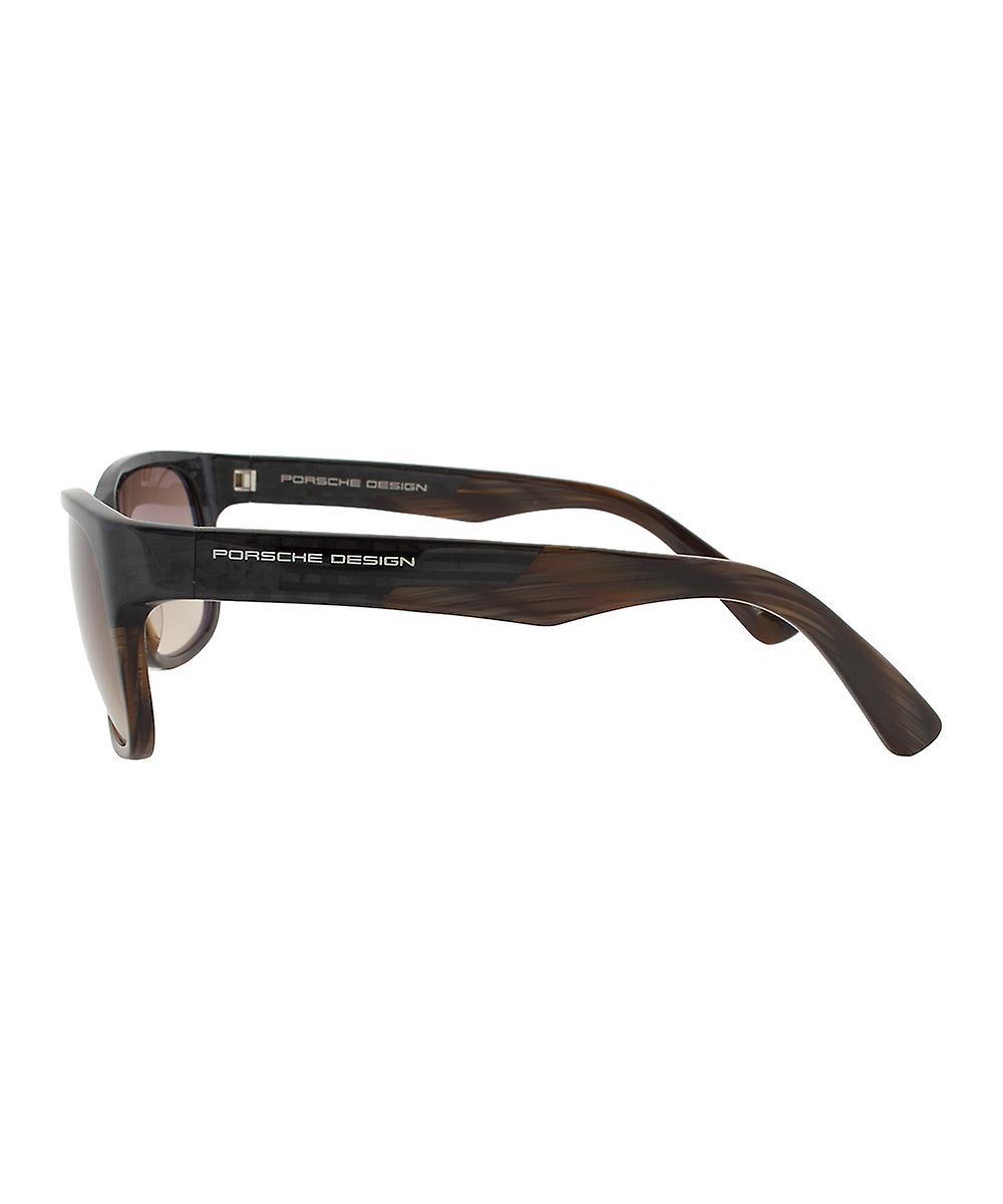 Porsche Design Design P8546 B Sunglasses | Carbon/Brown Frame | Brown Gradient Lens
