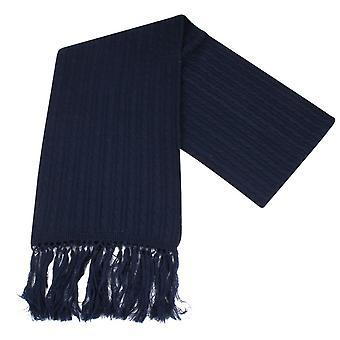 Knightsbridge dassen gebreide wollen sjaal - Navy