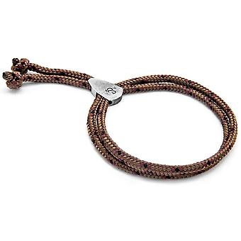 Anchor and Crew Pembroke Silver and Rope Bracelet - Brown