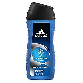 Adidas UEFA Champions League Star Edition Hair & Body Shower Gel for Men 8.4oz / 250ml