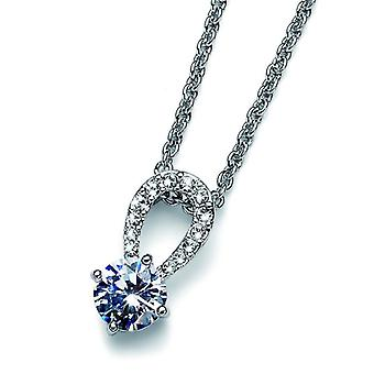 Oliver Weber Pendant Gleam Rhodium Crystal