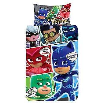 PJ Masks Pyjama bedclothes duvet Cover Set bedding 137x198 + 50x75cm