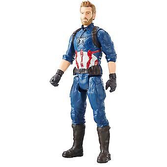 Marvel Titan Hero Series Captain America Figure Power FX Port