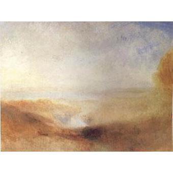 Paysage avec la rivière et la baie lointaines, Joseph William Turner