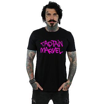 Marvel Kapteeni Marvel Spray teksti t-paita