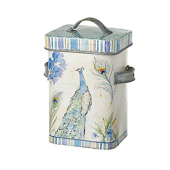 Peacock Metal Canister