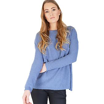 Friday's Project Knitted Blue Long Sleeved Jumper With Relaxed Fit