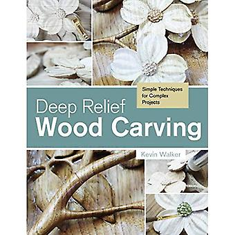 Escultura em madeira profundo alívio