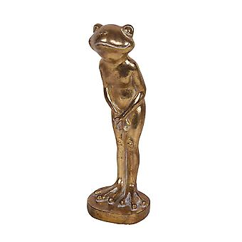 Decorative Resin Frog, Gold