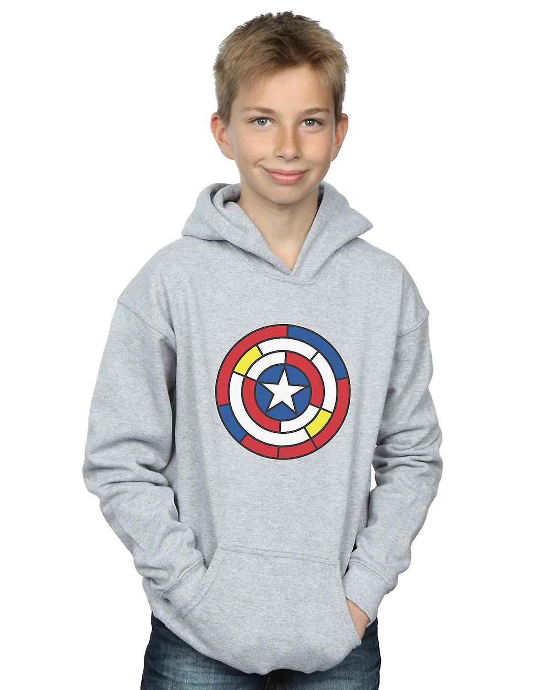 Marvel Boys Captain America Stained Glass Shield Hoodie