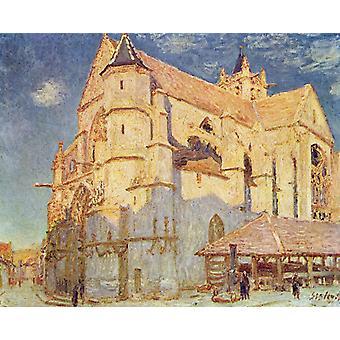 Kirken på moret, Evening, Alfred Sisley, 50x40cm