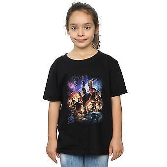 Marvel Girls Avengers Endgame Character Montage T-Shirt