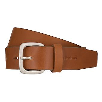 Strellson jeans belt men belt cowhide leather belt Cognac 7920