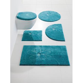 Grundlæggende bademåtte badeværelse tæppe-slip med ægte Swarovski krystaller turkis