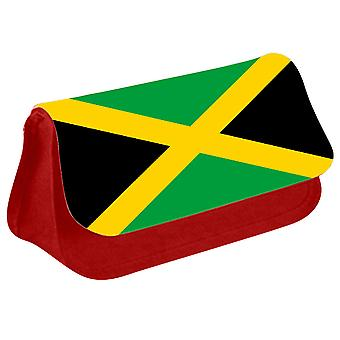Jamaica Flag Printed Design Pencil Case for Stationary/Cosmetic - 0084 (Red) by i-Tronixs