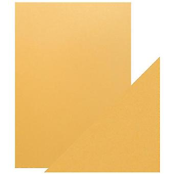 Craft Perfect by Tonic Studios A4 Pearlescent Card Lemon Lustre | Pack of 5
