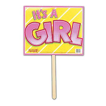 It es A Girl Yard Sign