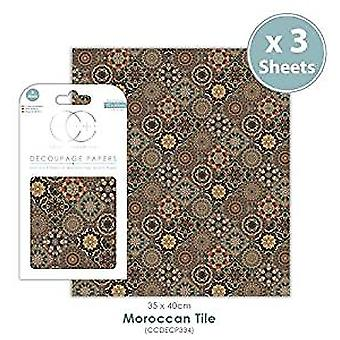 Craft Consortium Moroccan Tile Decoupage Papers