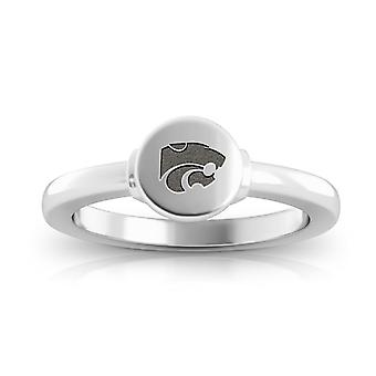 Kansas State University Engraved Sterling Silver Signet Ring