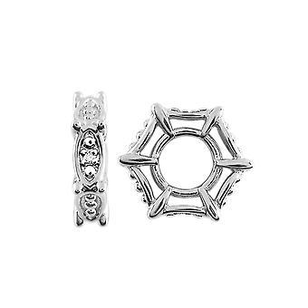 Storywheels Silber & Diamant verziert Charme S499D