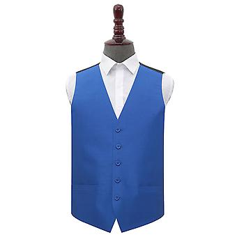 Royal Blue Plain Shantung Wedding Waistcoat