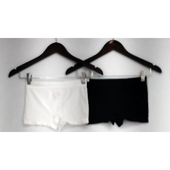 Breezies Panties (2) Seamless Boyshort Style Black/ White A272948