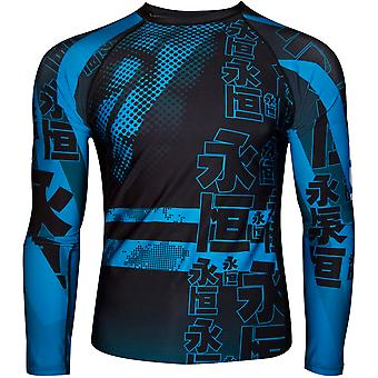 Dokebi Eternal Long Sleeve BJJ Rashguard - Albastru