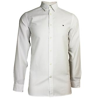 טומי הילפיגר גברים ' s בוהק לבן דק 4 חולצה למתוח
