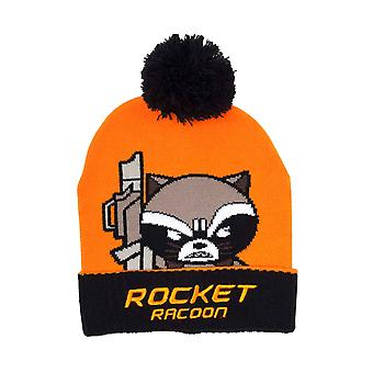 Guardians of the Galaxy Beanie Hat Racoon Kawaii Art new Official Marvel Orange