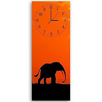 Decorative Clock With Picture, Elephant