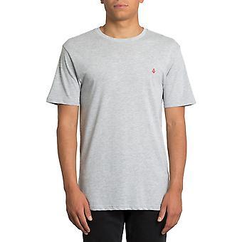 Volcom Stone Blank Short Sleeve T-Shirt dans Heather Grey