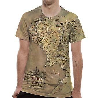Lord Of The Rings-Middle Earth Map T-Shirt