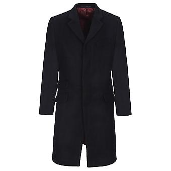 Merc WALESBY Tailored Mens wool nylon Wool Melton overcoat