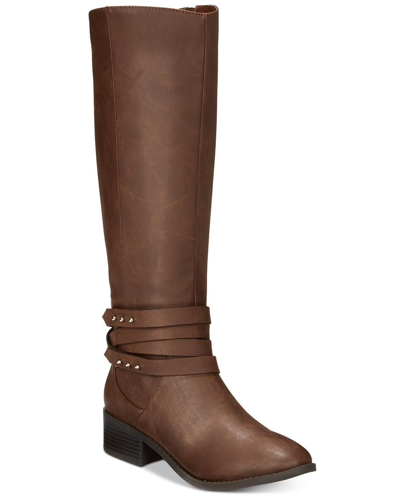 Material Girl Womens Damien Fabric Almond Toe Knee High Riding Boots l5Y0K
