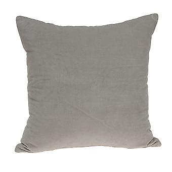 """22"""" x 7"""" x 22"""" Transitional Gray Solid Pillow Cover With Poly Insert"""