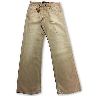 Agave Wayfarer cotton and linen jeans in cream