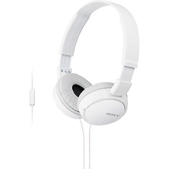 Sony Overhead Headphones with In-Line Mic & Control - White (Model MDRZX110APW)