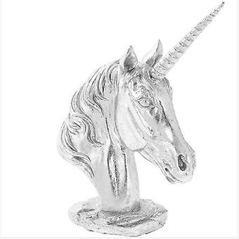 Silver Art Unicorn Bust Figure 26cm High Reduced as Imperfect
