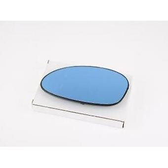 Left Passenger Blue Mirror Glass (Heated) & Holder For BMW 1 Coupe 2007-2010