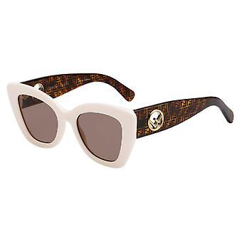 Fendi Signature-F Is FF0327/S VK6/70 White/Brown Sunglasses
